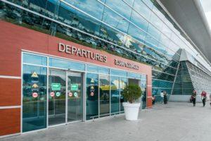 Departure Enterance Tbilisi Airport